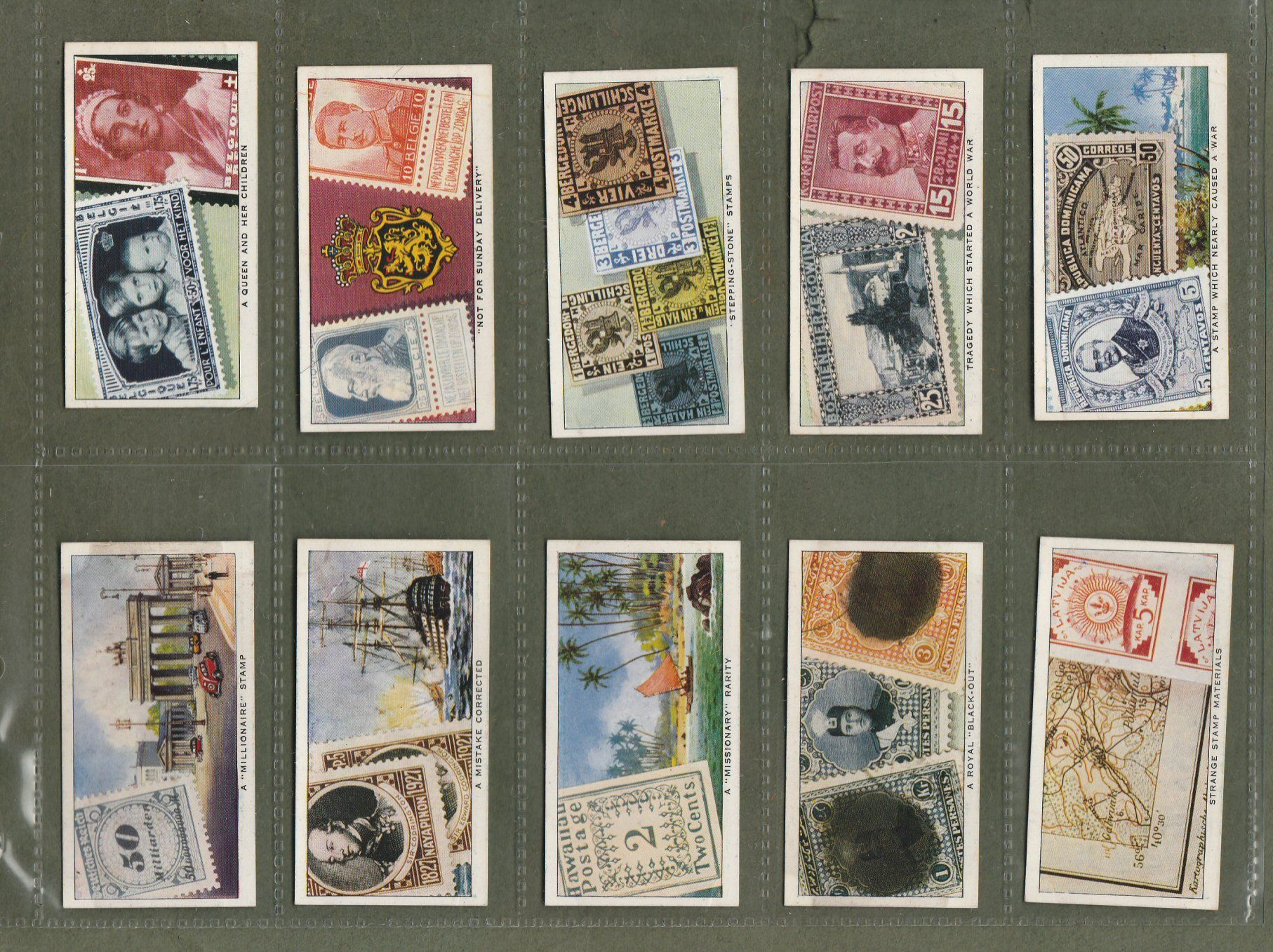 Collectable Tobacco Cigarette Cards Rare Post Stamps 1939